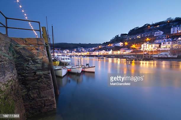 Looe Harbour at Twilight