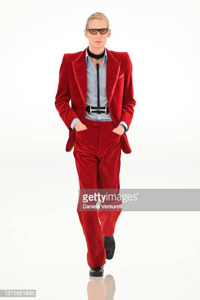 Look 1 from Gucci Aria collection on April 15, 2021 in Rome, Italy.