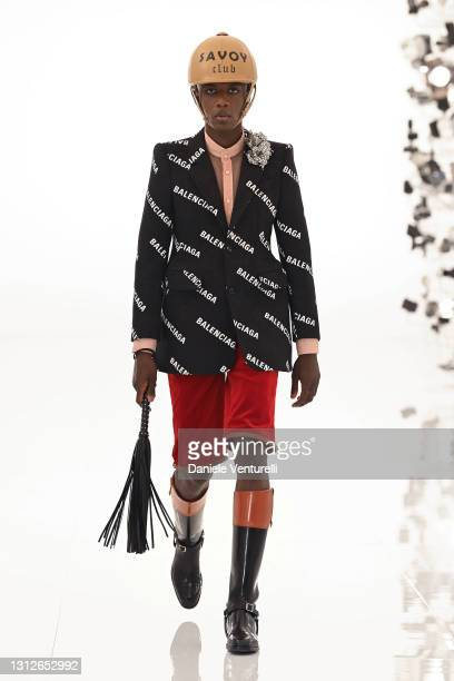 Look 46 from Gucci Aria collection on April 15, 2021 in Rome, Italy.
