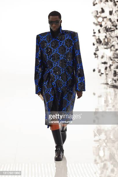 Look 69 from Gucci Aria collection on April 15, 2021 in Rome, Italy.