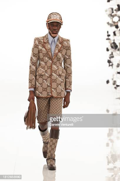 Look 91 from Gucci Aria collection on April 15, 2021 in Rome, Italy.