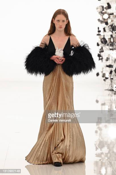 Look 94 from Gucci Aria collection on April 15, 2021 in Rome, Italy.