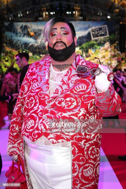 A look alike of Harald Gloeoeoeckler during the Life Ball 2018 at City Hall on June 2 2018 in Vienna Austria The Life Ball an annual charity event...