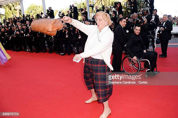 Look alike of Mrs Doubtfire at the 'Clouds Of Sils Maria' Premiere at the 67th Annual Cannes Film Festival