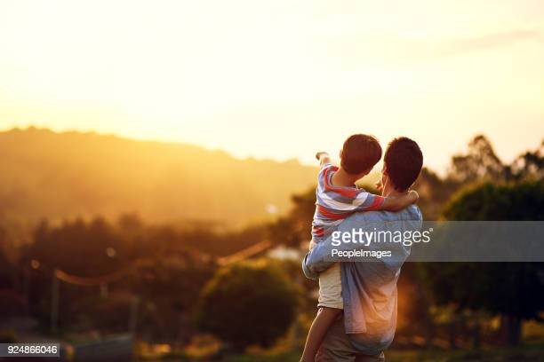 look at that, dad - son stock pictures, royalty-free photos & images