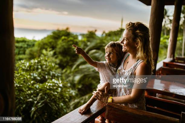 look at that view, mom! - aiming stock pictures, royalty-free photos & images