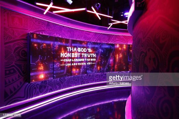 """Look at the filming of Comedy Central's """"Tha God's Honest Truth"""" with 'Charlamagne' Tha God on September 16, 2021 in New York City."""