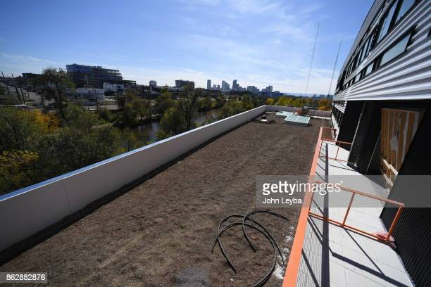 A look at the Green Roof under construction at Flight office building on October 18 2017 in Denver Colorado The Denver Green Roof Initiative on the...