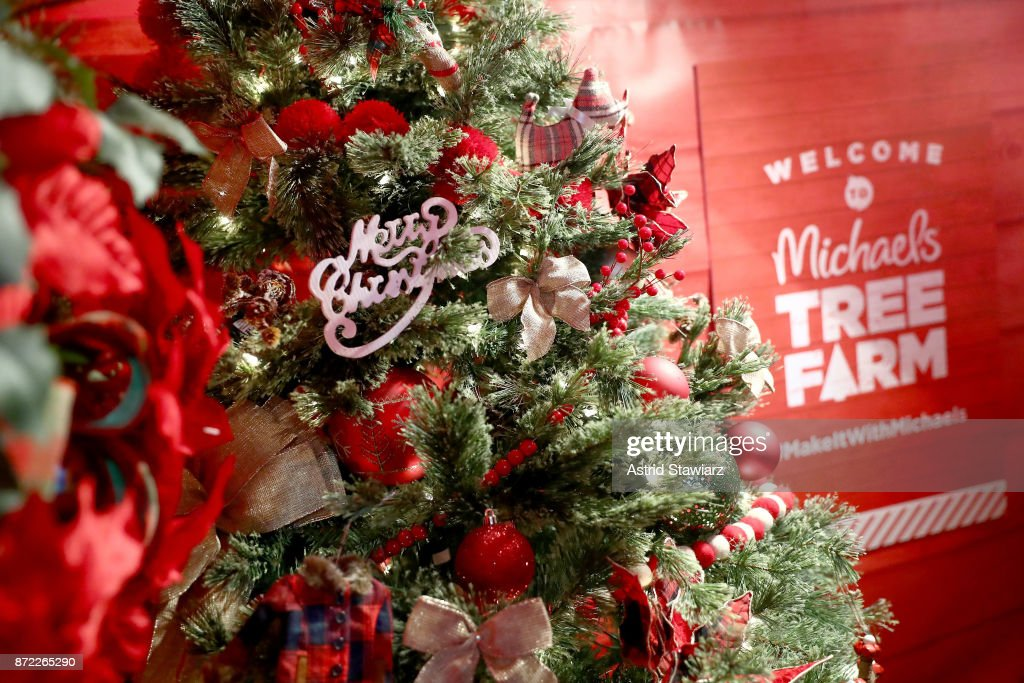 a look at the michaels faux tree farm pop up on november 9 2017 - Michaels Christmas Eve Hours