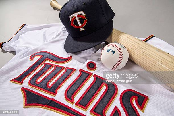 A look at the new home uniform for the Minnesota Twins on October 28 2014 at Target Field in Minneapolis Minnesota