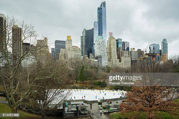 New York United States of America February 25 Look at the Wollman Rink in Central Park on February 25 2016 in New York United States of America