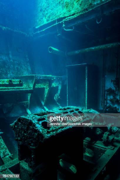 A look inside the USS Kittiwake shipwreck, Grand Cayman, Cayman Islands.