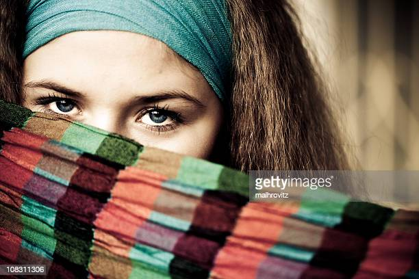 look intense - shawl stock photos and pictures