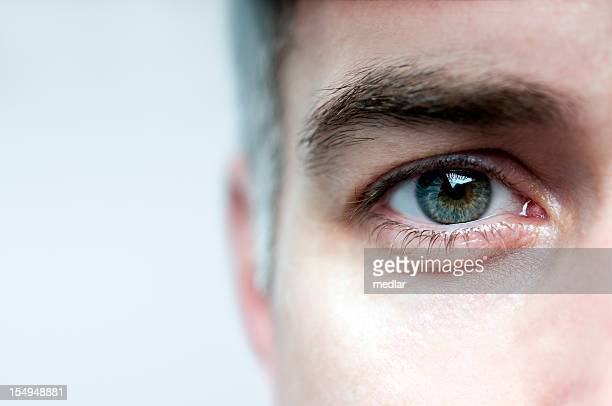 look me in the eye - close up stockfoto's en -beelden