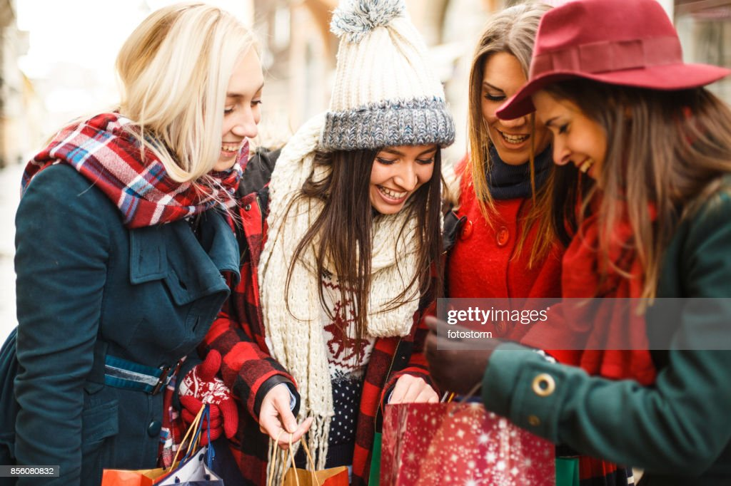 Look of happy and curious girls : Stock Photo