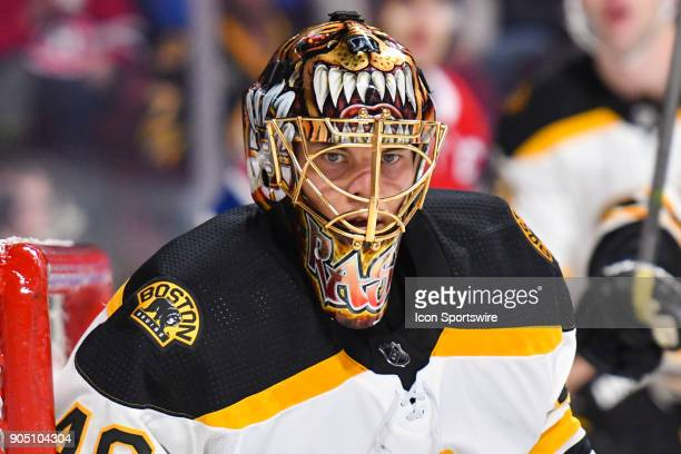 Look on Boston Bruins Goalie Tuukka Rask during the Boston Bruins versus the Montreal Canadiens game on January 13 at Bell Centre in Montreal QC