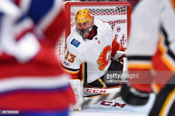 Look on Calgary Flames Goalie David Rittich during the Calgary Flames versus the Montreal Canadiens game on December 7 at Bell Centre in Montreal QC