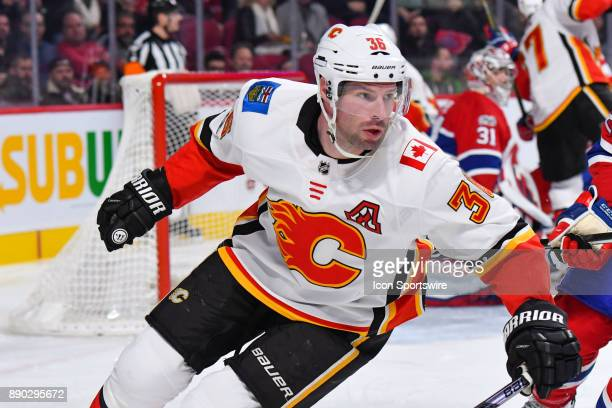 Look on Calgary Flames Right Wing Troy Brouwer during the Calgary Flames versus the Montreal Canadiens game on December 7 at Bell Centre in Montreal...