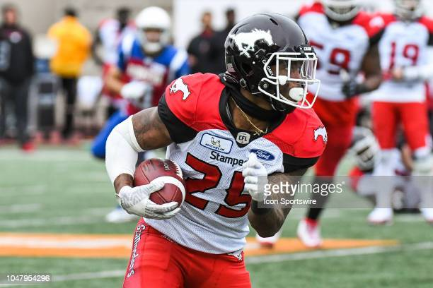 Look on Calgary Stampeders Running back Don Jackson during the Calgary Stampeders versus the Montreal Alouettes game on October 8 at Percival Molson...