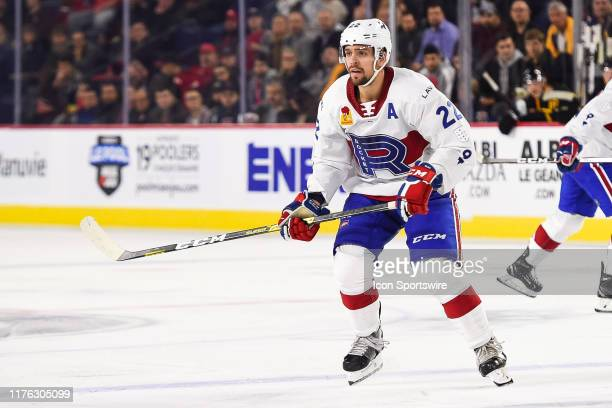 Look on Laval Rocket center Alex Belzile during the Providence Bruins versus the Laval Rocket game on October 16 at Place Bell in Laval QC