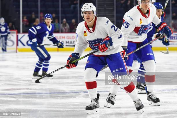 Look on Laval Rocket center Alexandre Alain during the Toronto Marlies versus the Laval Rocket game on November 13 at Place Bell in Laval QC