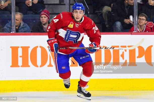 Look on Laval Rocket center Daniel Audette during the Utica Comets versus the Laval Rocket game on January 10 at Place Bell in Laval QC