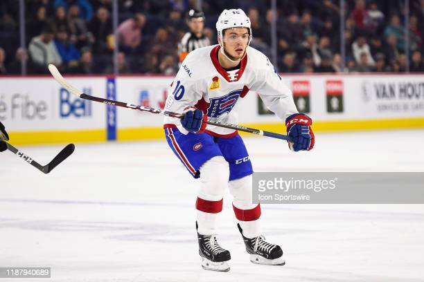 Look on Laval Rocket center Jake Evans during the Cleveland Monsters versus the Laval Rocket game on December 10 at Place Bell in Laval QC