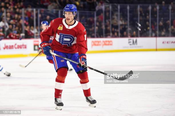 Look on Laval Rocket center Lukas Vejdemo during the Manitoba Moose versus the Laval Rocket game on February 19 at Place Bell in Laval QC