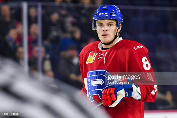 Look on Laval Rocket defenceman Noah Juulsen during the Utica Comets versus the Laval Rocket game on January 10 at Place Bell in Laval QC
