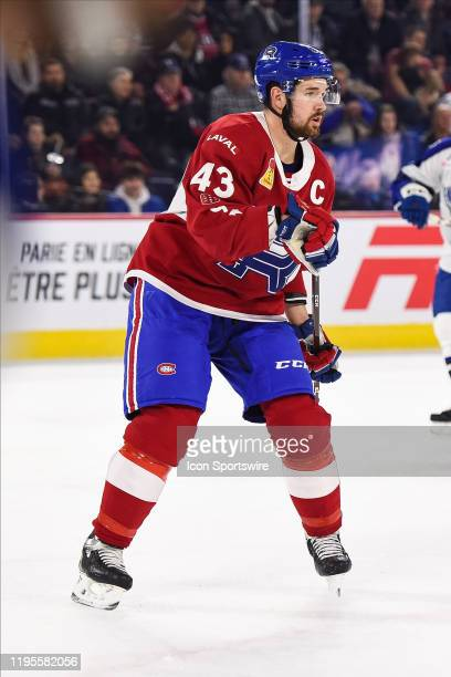 Look on Laval Rocket defenceman Xavier Ouellet during the Syracuse Crunch versus the Laval Rocket game on January 22 at Place Bell in Laval, QC
