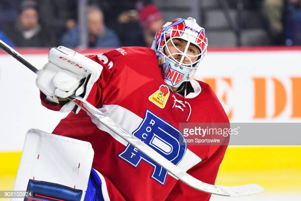 Look on Laval Rocket goalie Michael McNiven during the Utica Comets versus the Laval Rocket game on January 10 at Place Bell in Laval QC