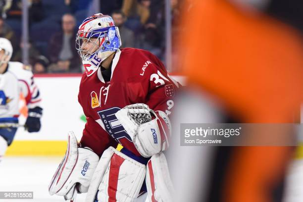 Look on Laval Rocket goalie Zach Fucale during the Springfield Thunderbirds versus the Laval Rocket game on April 6 at Place Bell in Laval QC