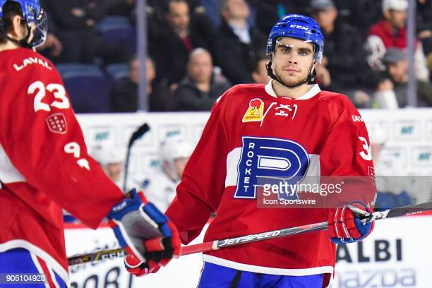 Look on Laval Rocket left wing David Broll during the Utica Comets versus the Laval Rocket game on January 10 at Place Bell in Laval QC