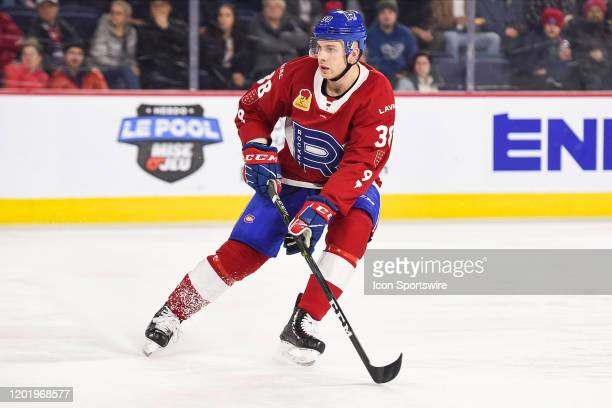 Look on Laval Rocket left wing Yannick Veilleux during the Manitoba Moose versus the Laval Rocket game on February 19 at Place Bell in Laval QC