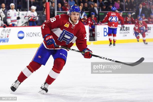 Look on Laval Rocket left wing Yannick Veilleux during the Rochester Americans versus the Laval Rocket game on April 4 at Place Bell in Laval QC