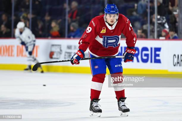Look on Laval Rocket right wing Antoine Waked at warmup before the Toronto Marlies versus the Laval Rocket game on March 06 at Place Bell in Laval QC