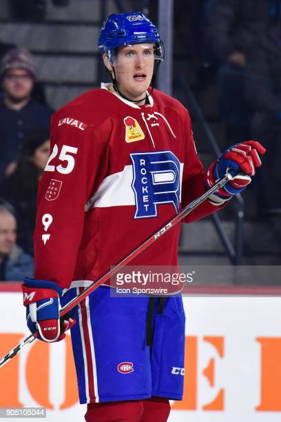 Look on Laval Rocket right wing Michael Mccarron during the Utica Comets versus the Laval Rocket game on January 10 at Place Bell in Laval QC