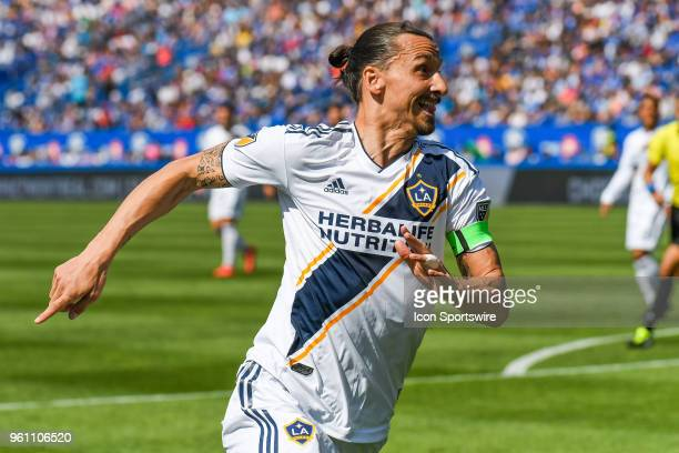 Look on Los Angeles Galaxy forward Zlatan Ibrahimovic during the LA Galaxy versus the Montreal Impact game on May 21 at Stade Saputo in Montreal QC