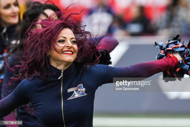 Look on Montreal Alouettes cheerleader during the Calgary Stampeders versus the Montreal Alouettes game on October 8 at Percival Molson Memorial...