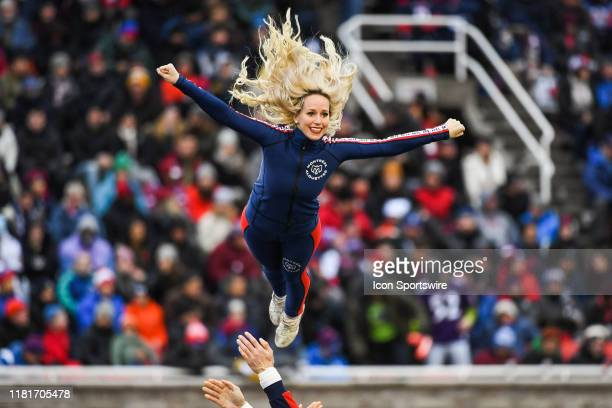 Look on Montreal Alouettes cheerleader during the Edmonton Eskimos versus the Montreal Alouettes eastern semi-final game on November 10 at Percival...