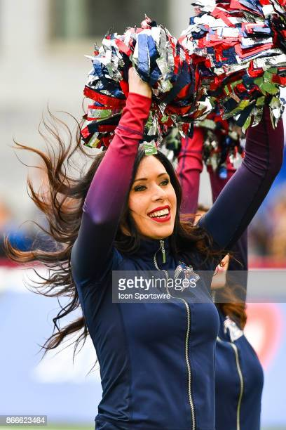 Look on Montreal Alouettes cheerleader during the Hamilton TigerCats versus the Montreal Alouettes game on October 22 at Percival Molson Memorial...