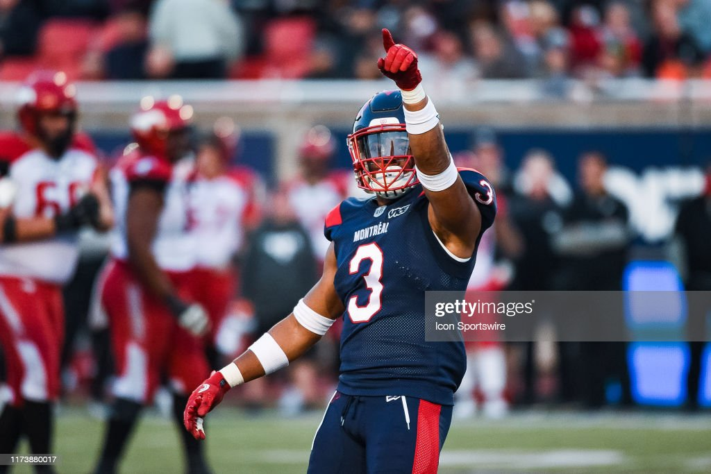 CFL: OCT 05 Calgary Stampeders at Montreal Alouettes : News Photo