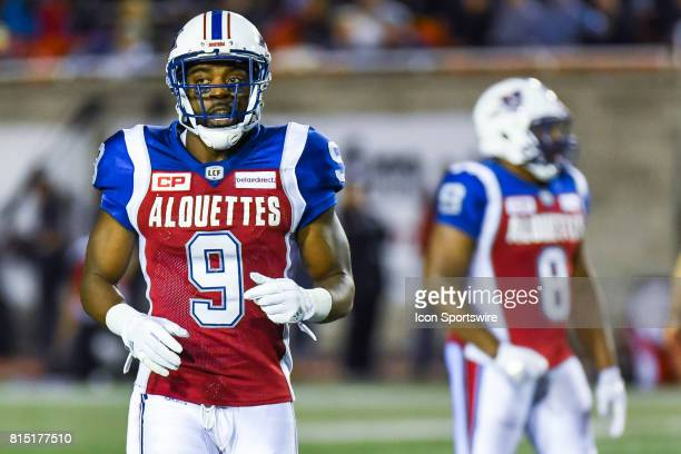 Look on Montreal Alouettes wide receiver Ernest Jackson during the Calgary Stampeders versus the Montreal Alouettes game on July 14 at Percival...