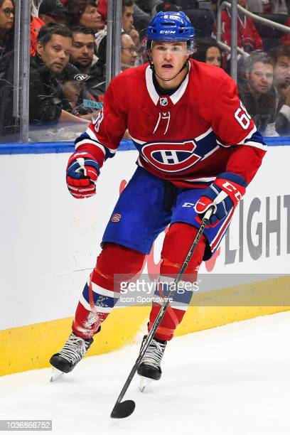 Look on Montreal Canadiens center Alexandre Alain during the Washington Capitals versus the Montreal Canadiens preseason game on September 20 at...