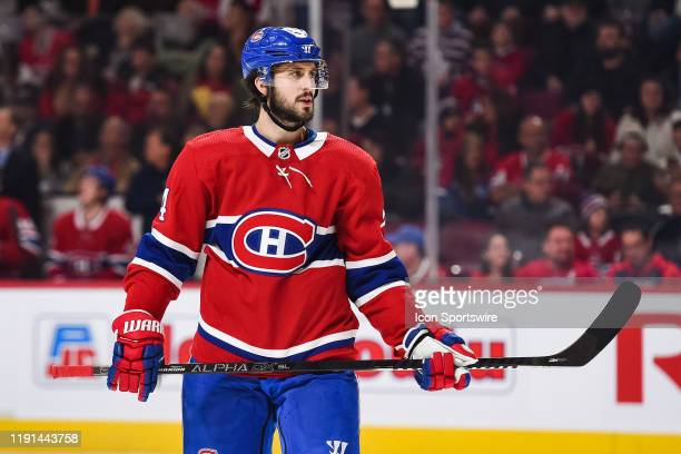 Look on Montreal Canadiens center Phillip Danault during the Tampa Bay Lightning versus the Montreal Canadiens game on January 02 at Bell Centre in...