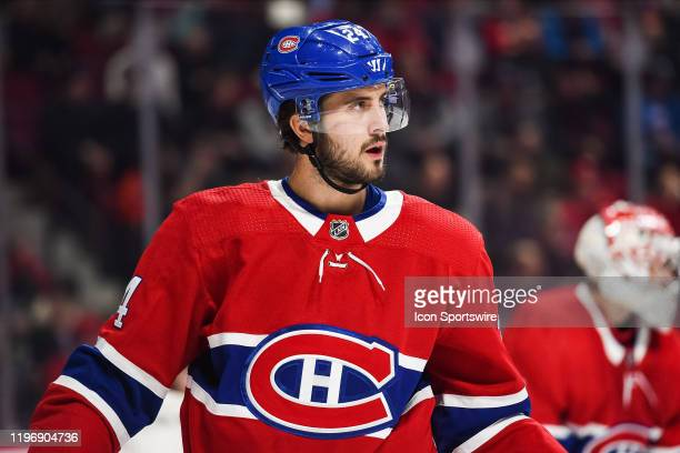 Look on Montreal Canadiens center Phillip Danault during the Washington Capitals versus the Montreal Canadiens game on January 27 at Bell Centre in...