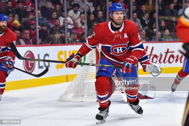 Look on Montreal Canadiens Defenceman Shea Weber during the Calgary Flames versus the Montreal Canadiens game on December 7 at Bell Centre in...