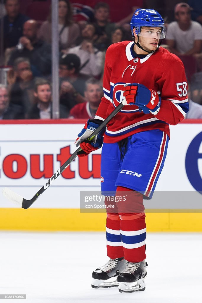 Look on Montreal Canadiens defenseman Noah Juulsen during the New ... f8ac51af0