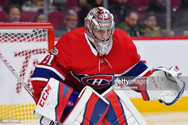 Look on Montreal Canadiens Goalie Carey Price during the Calgary Flames versus the Montreal Canadiens game on December 7 at Bell Centre in Montreal QC