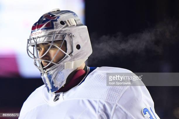 Look on Montreal Canadiens Goalie Carey Price NHL 100 helmet during the Montreal Canadiens versus the Ottawa Senators NHL100 Classic game on December...